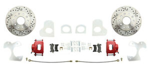1982 92 Chevy S 10 Rear Disc Brake Conversion Kit Red Calipers Drilled Rotors