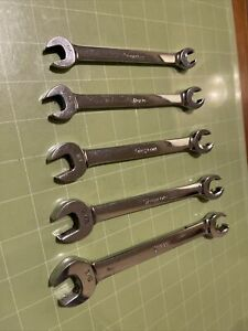 Snap On Rxs605 5 Piece 6 Point Open End Flare Nut Wrench Set