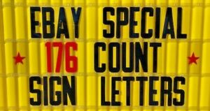 New 8 Changeable Flexible Plastic Letters For Outdoor Portable Signs