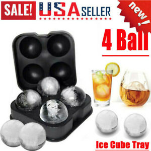 Ice Balls Maker Round Sphere Tray Diy Silicone Mold Cube Whiskey Ball Cocktails