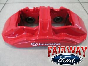 15 Thru 20 Mustang Oem Ford 2 piece Brembo Red Brake Caliper Gt350r Front Only