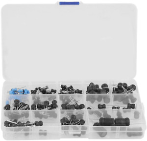 145pcs Inductors Assorted Kit 10uh 10mh Small Vertical Inductors guide Pin St