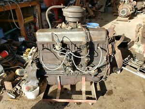 1953 1954 Chevy 235 Blue Flame Complete Engine Running Core See Video Will Ship