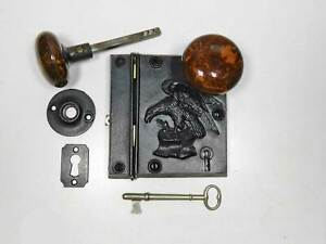 Cast Iron Eagle Lock By Russell Erwin Patented Circa 1858 Restored Complete
