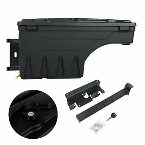 For 07 19 Silverado Sierra Truck Bed Wheel Well Storage Tool Box W lock Left