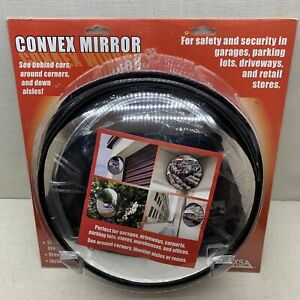 12in Wide Angle Convex Mirrors Corner Blind Spot Outdoor Driveway Traffic Mirror