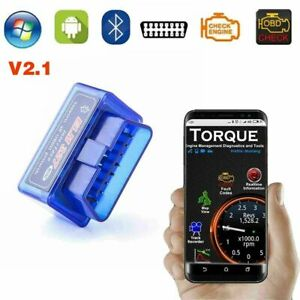 Elm327 Obd2 V2 1 Bluetooth Car Diagnostic Scanner Android Torque Auto Scan Tool