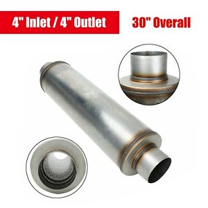 4 Inlet Outlet 30 Overall Diesel Muffler Performance Resonator Stainless Steel