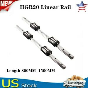 2pcs Hgr20 800mm 1500mm Linear Guide Rail 4pcs Hgh20ca Slider Block For Cnc Us