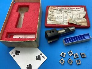 Ctd Cleveland 1 1 2 Indexable End Mill Milling Cutter W 4 21103 Carbide Inserts