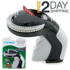 Embossing Label Maker With 3 Dymo Labeling Tapes Clicker Sticker Crafting