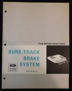 1969 1970 Ford Mercury Lincoln Nos Sure Track Brake System Film Review Book