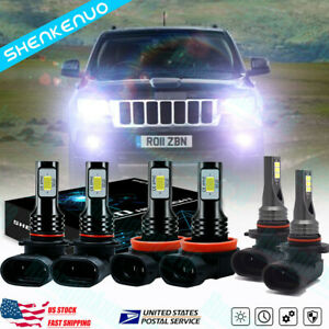 For Jeep Grand Cherokee 1999 2004 Led Headlight High Low Fog Light Bulb Kit Us