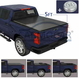 Soft 5 Ft Short Truck Bed Tri fold For 2019 2020 Ford Ranger Tonneau Cover