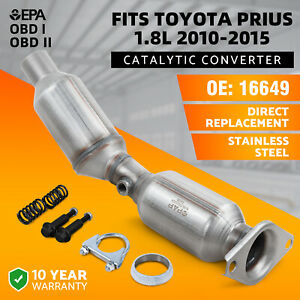 Catalytic Converter Toyota Prius 1 8l W gasket For 2010 2011 2012 2013 2014 2015