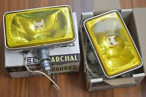 Vintage Nos Marchal 859 Yellow Fog Driving Lights