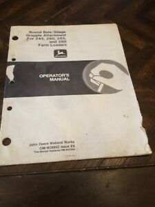John Deere Round Bale Silage Grapple Attachment 245 260 265 280 Loader Manual