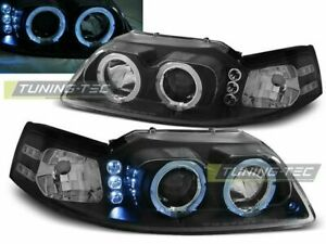Ford Mustang 1998 1999 2000 2001 2002 2003 2004 Lpfo33 Headlights Halo Rims