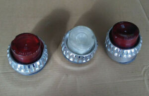 62 1962 Plymouth Tail Lights Lenses Bezels Fury Belvedere Savoy Chrome Reverse
