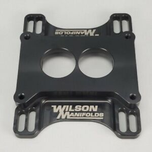 Wilson Manifolds 044111 1 Tapered Lightweight 2300 2bbl To 4150 4bbl Adapter New