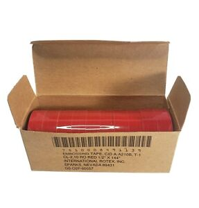 Rotex Embossing Tape Red Glossy 1 2 X 12 Foot Pack Of 10 Rolls For Scotch New