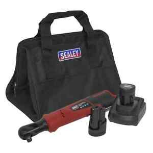 Sealey Cordless Ratchet Wrench 1 2 Sq Drive 12v Lithium Ion 2 Batteries Gar