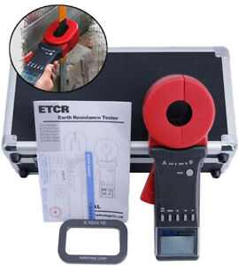 Digital Ground Resistance Tester Clamp On Earth Resistance Meter 0 01 To 200