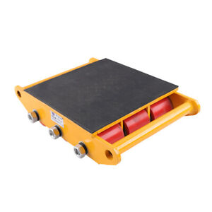 15t 33000lbs Industrial Machinery Mover Roller Dolly Skate Cargo Transport Us