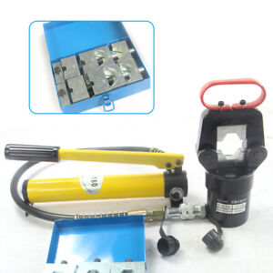20 Ton Split Hydraulic Crimper Pliers Wire Cable Crimping Tool With Pump Dies