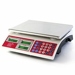 Stainless Digital Commercial Price Scale 66lb 30kg For Food Meat Fruit Produce