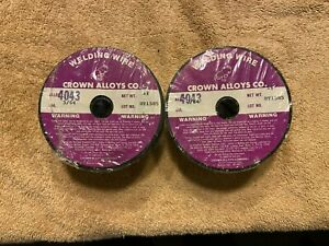 Crown Alloys Royal 4043 Welding Wire 3 64 Aluminum Alloy For Tig Mig 2 Rolls