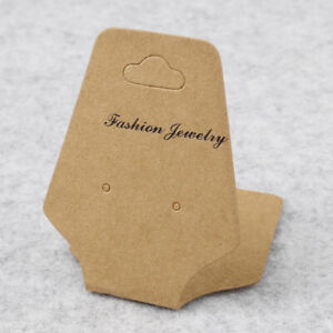 100x Tag Fold Over Packing Hanging Earrings Display Cards Necklace
