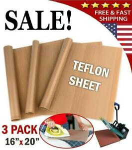 Teflon Sheets For Heat Press Transfer Non Stick Iron Resistant High Quty Cook