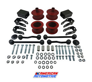 2018 Jeep Wrangler Jl 3 Front Rear Red Level Lift Kit Sway Bar Shock Ex