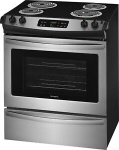 Frigidaire Ffes3016ts 30 Stainless Slide in Electric Range With Store more