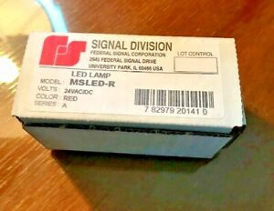 Federal Signal Msled r Led Lamp 24vac dc Red Series A