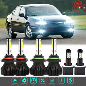 For Chevy Impala 2000 2005 Combo Led Headlights High Low Beam Fog Lights Bulbs