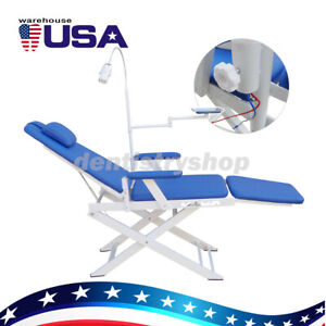 Portable Dental Examination Folding Chair Simple Type Rechargeable Led Light Ups