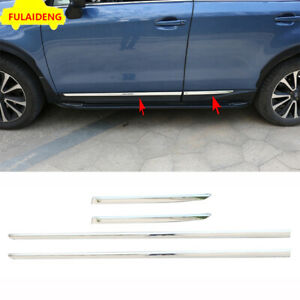 For Subaru Forester 2013 2018 Chrome Side Door Body Molding Anticollision Cover