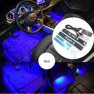 Rgb Automotive Ambient Light Kit Under Dash Foot Well Seats Inside Lighting