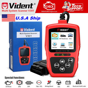 Vident V301 Car Diagnostic Scanner Obd2 Code Reader Immo Epb Abs Airbag Oil Rest