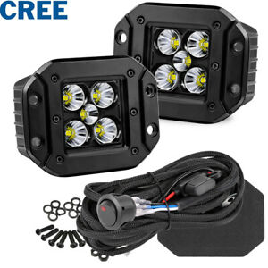 2x 4 52w Round Led Driving Spot Lights Work Bar Offroad Driving Pods Atv Truck