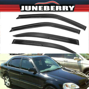 For 96 00 Honda Civic Sedan 4dr Jdm Side Window Visors Rain Guards Deflectors