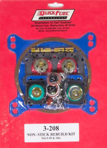 Quick Fuel Technology 3 208 E85 Carb Rebuild Kit 650 750 850 950fcm