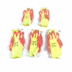 lot Of 5 New Cordova Safety Products 3056 Cor touch Medium Size Safety Gloves