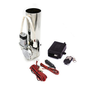 2 51mm Electric Exhaust Catback Downpipe Cut Valve System Wireless Remote Kit