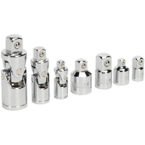 Sealey 7 Piece Universal Joint And Socket Adaptor Set