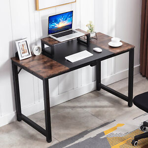 47 Computer Desk And Monitor Stand Vintage Adjustable Bureau Home Office Table