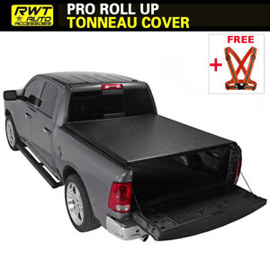 Fits 2009 2018 Dodge Ram 1500 Lock Roll Up Soft Tonneau Cover 5 7ft 68 4 Bed