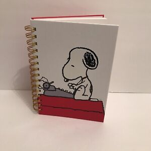 Peanuts Snoopy Notebook Journal Notepad Lined Red Spiral Hardcover 5x8 Small New
